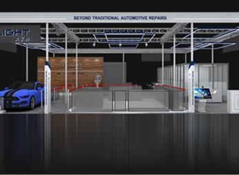 奥莱特汽车展台设计效果图