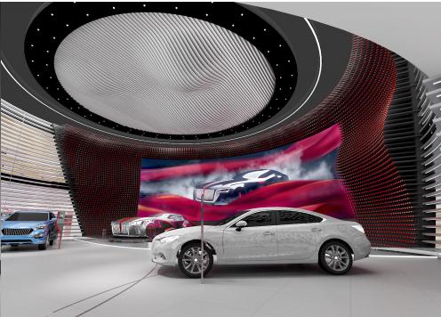 汽车展台展览设计效果图