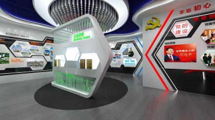 上海展览公司的企业展厅设计效果图