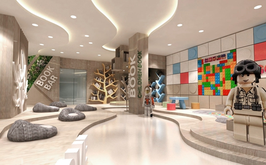 城市展厅设计方案的内部设计效果图