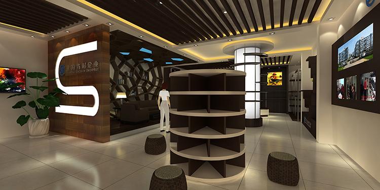 上海青杉企业展厅设计效果图