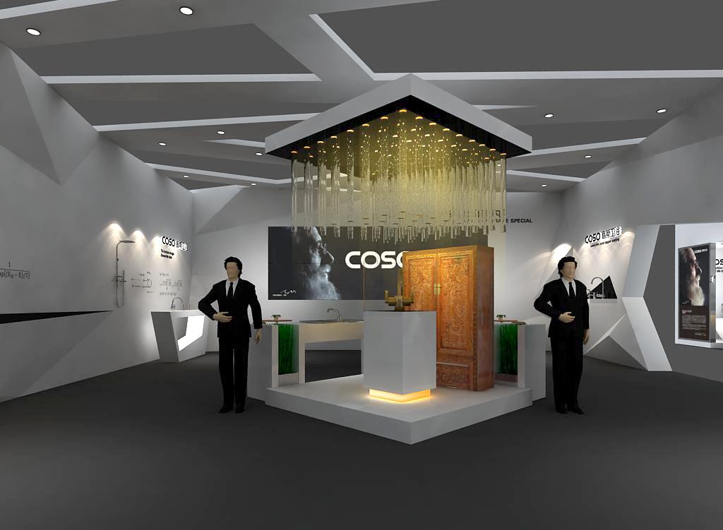 2014高斯卫浴展展台设计案例展示3