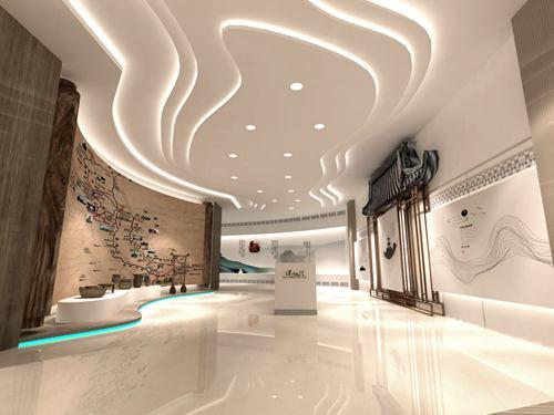城市展厅设计方案的走廊设计效果图