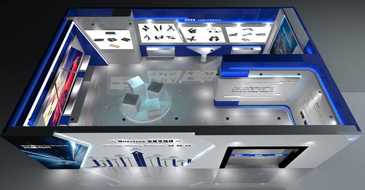 上海金豹实业展厅设计鸟瞰图