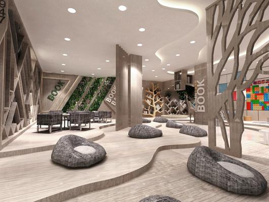 城市展厅设计方案的大厅设计效果图