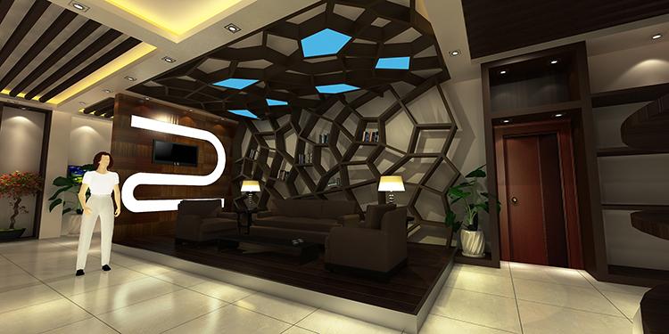 上海青杉企业展厅设计案例2