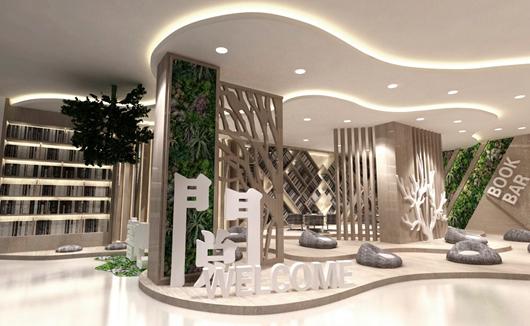 城市展厅设计方案中的展示区设计效果图