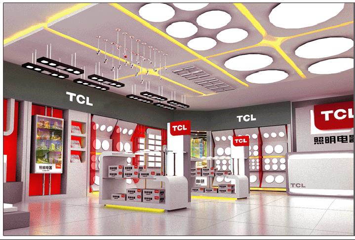 TCL照明电器品牌店设计案例2