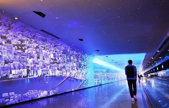 时空隧道体验空间设计实际案例效果图
