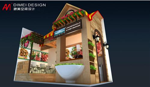 食品展展台设计案例展示