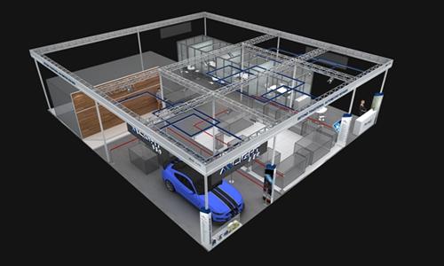 奥莱特汽车展台设计效果图3