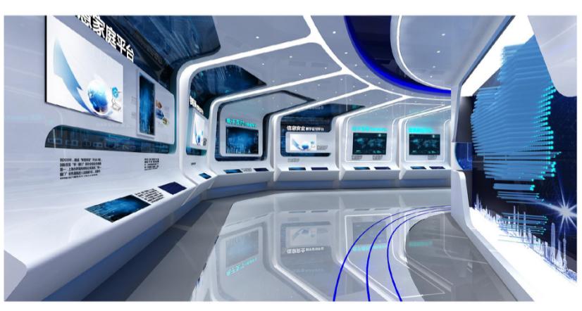 上海信投企业展厅设计案例4