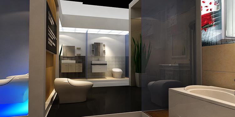 摩尔舒卫浴展台设计案例6