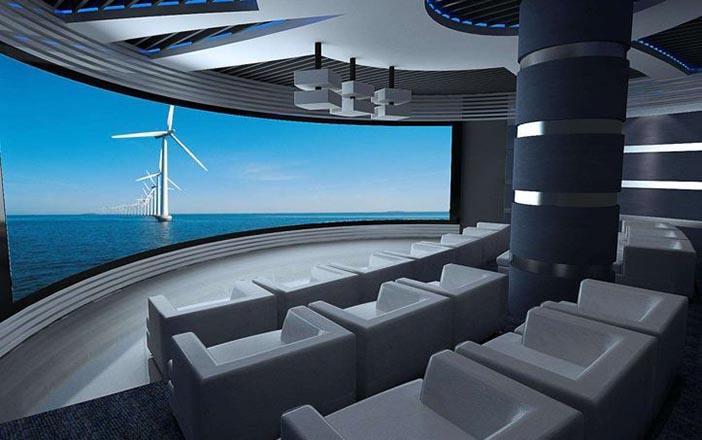 企业多媒体展厅设计方案的局部效果图