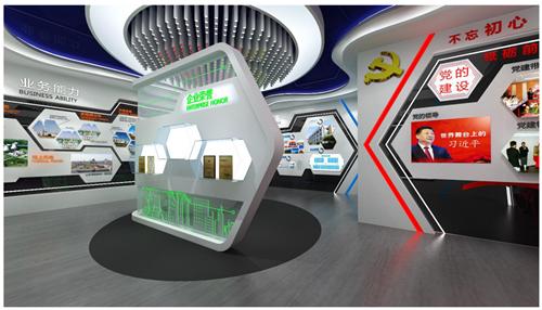 企业展厅设计设计方案的效果图5