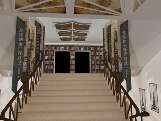 碧桂园燕山公馆看房通道设计方案的效果图1
