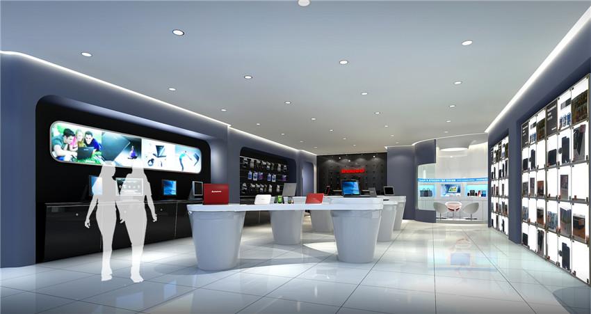 联想品牌店空间设计效果图2