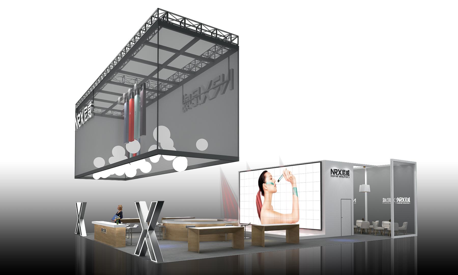 电子烟展台设计案例效果图12