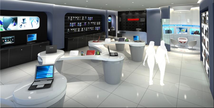 联想品牌店空间设计效果图3