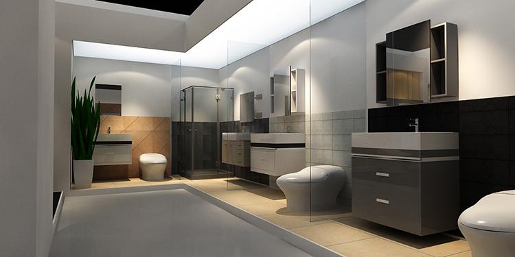 摩尔舒卫浴展台设计案例7