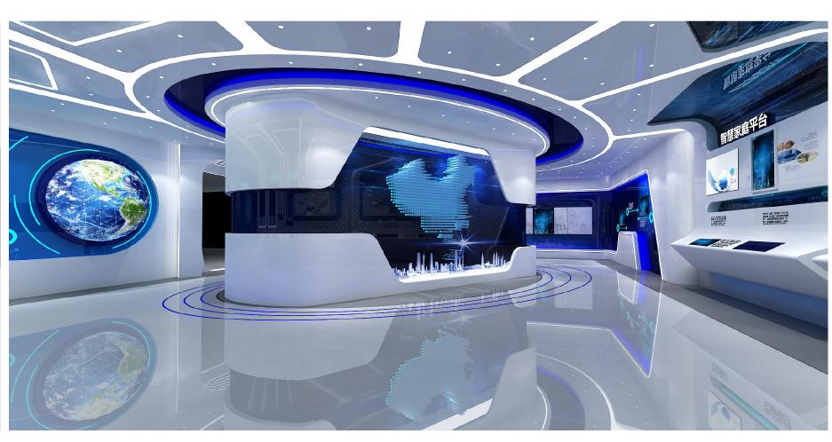 上海信投企业展厅设计案例8