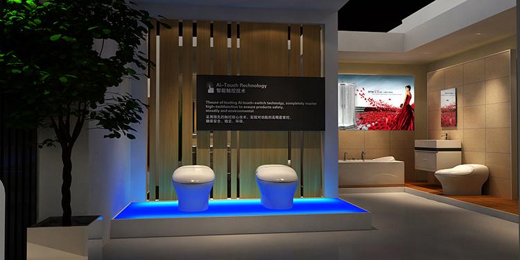 摩尔舒卫浴展台设计案例4