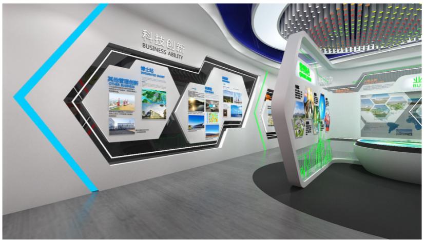 企业展厅设计设计方案的效果图4