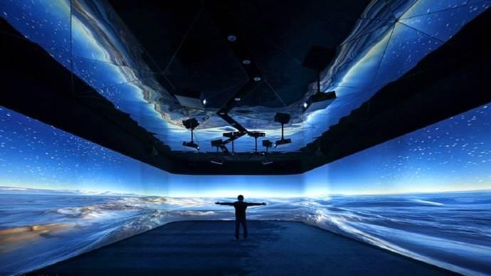 企业多媒体展厅设计方案的互动体验区设计效果图