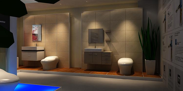 摩尔舒卫浴展台设计案例5