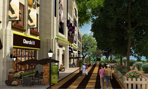 绿地智慧金融城商业街包装8