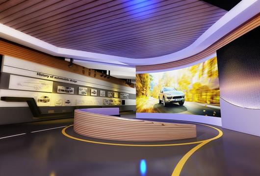 学校展厅设计方案效果图2