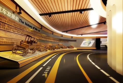 学校展厅设计方案效果图