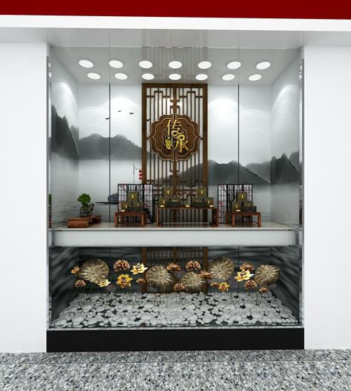 周大福珠宝展柜制作效果图6