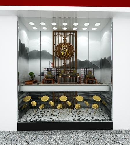 周大福珠宝展柜制作效果图3