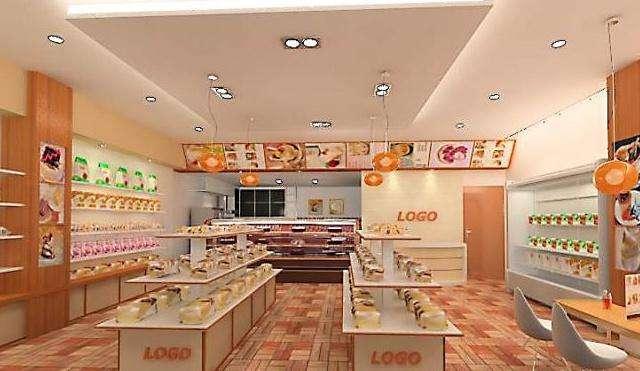 展厅设计公司棣美的蛋糕店室内设计案例