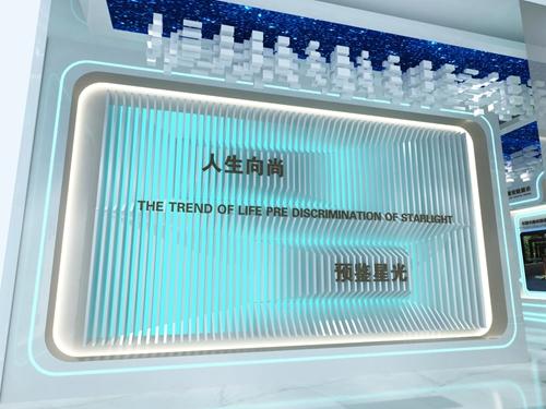 碧桂园-星樾时代看方通道设计方案的效果图