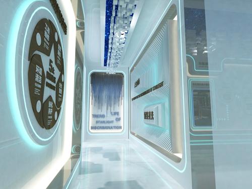 碧桂园-星樾时代看方通道设计方案的效果图2