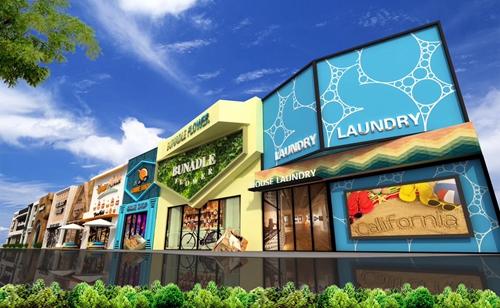 商业街设计案例的侧面效果图3