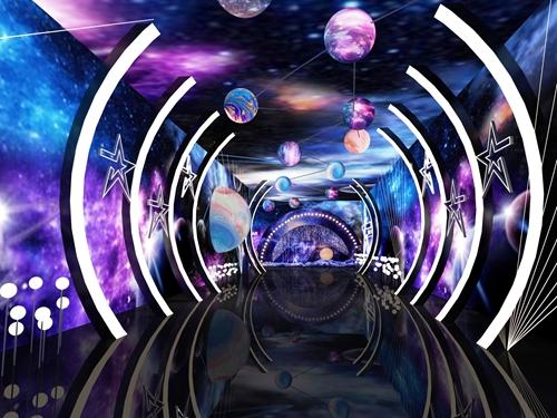 碧桂园-星樾时代看方通道设计方案的效果图7