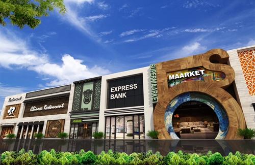 商业街设计案例的正面远景图