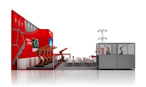 广州数控特装展位设计案例的侧面图2