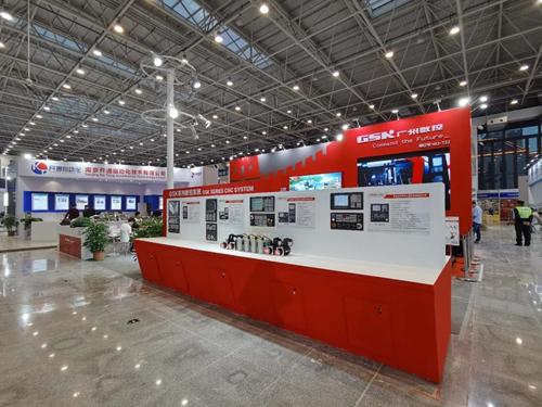 广州数控特装展位设计案例的现场图