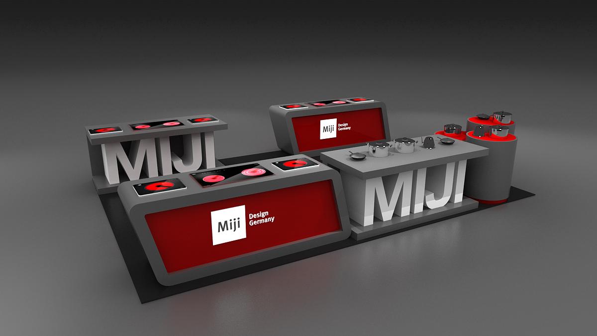 米技展台设计搭建方案的产品展示图5