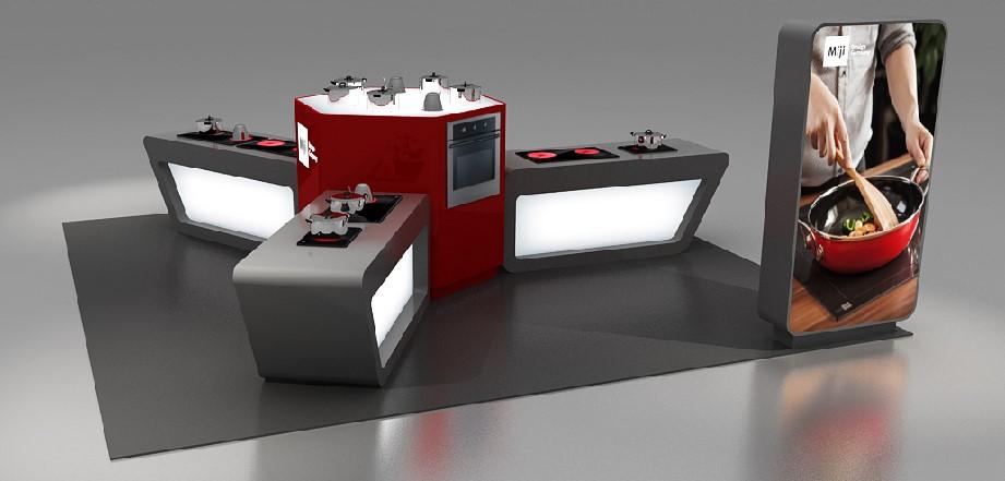 米技展台设计搭建方案的产品展示图4