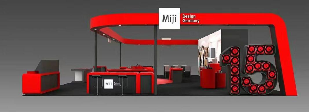 米技展台设计搭建方案的侧面效果图