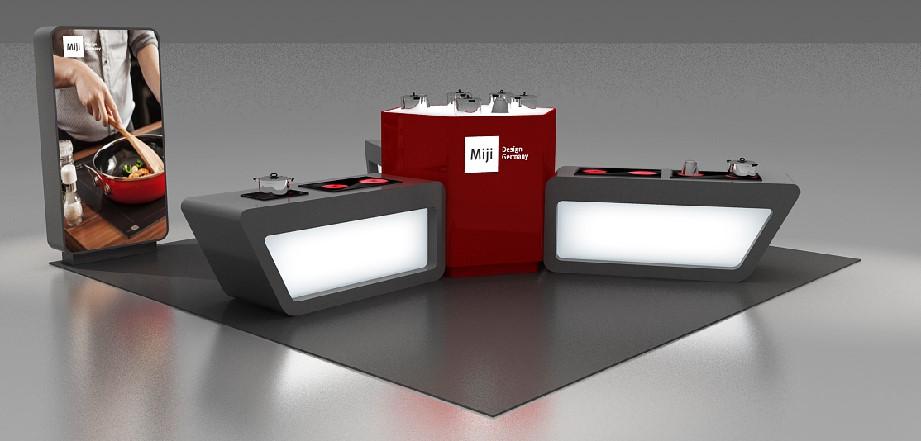 米技展台设计搭建方案的产品展示图2
