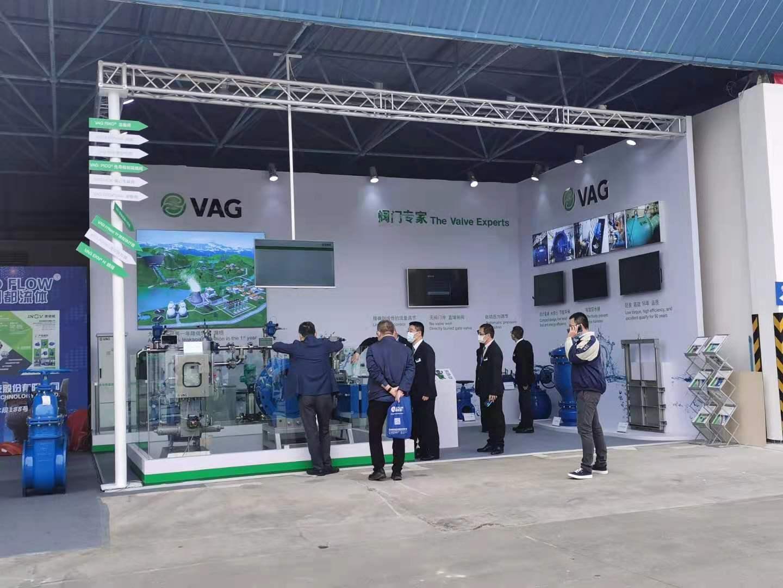 VAG展台设计案例的现场效果图
