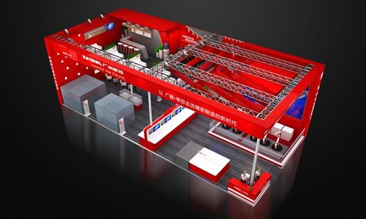 广州数控展台设计搭建方案的鸟瞰图