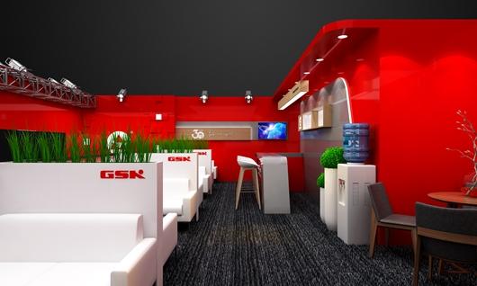 广州数控展台设计搭建方案的局部效果图