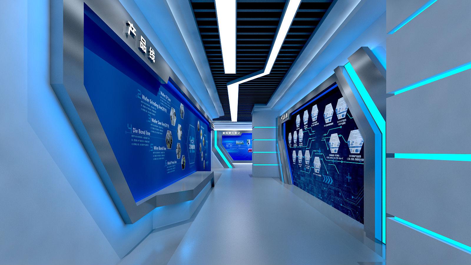 恒拓展厅设计方案图片的走廊